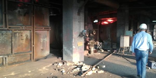 萍乡钢铁厂球团竖炉施工